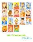 Ms Gonzales Self Portrait Poster